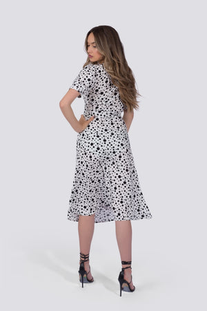 Coco Dress | White Polka Dot