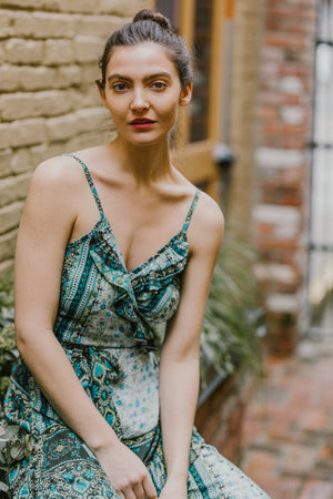 Manon Wrap Dress | Green