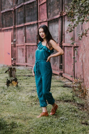 Amelia Jumpsuit | Emerald - Available for Pre-Order