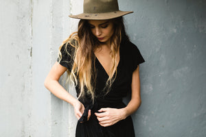 Savannah Wrap Top | Black