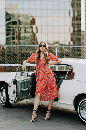 Coco Wrap Dress | Red Polka Dot