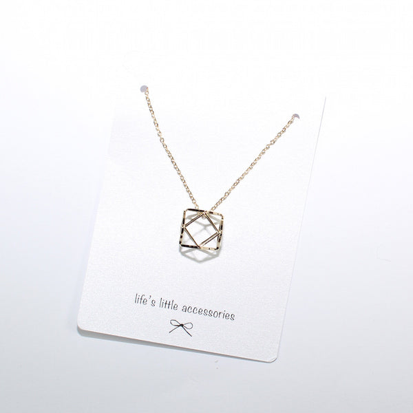Geometric necklace available at Novelstyle shop