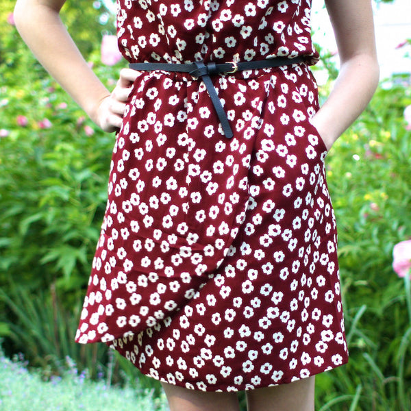 Dreamy floral burgundy dress from english brand Louche available at Novelstyle Shop