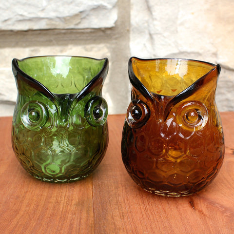 Owl candle holder from One Hundred 80 Degrees