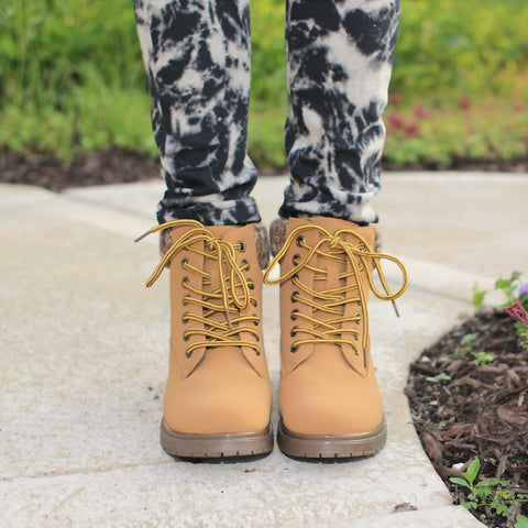 affordable brown Work lace up boots for women