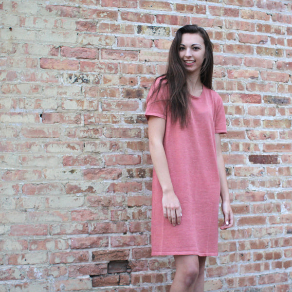 Miilla pink oversized boyfriend t-shirt dress in pink