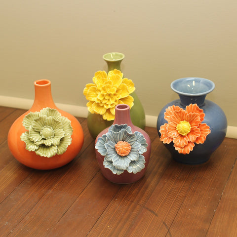 Home decor colorful and affordable flower vases