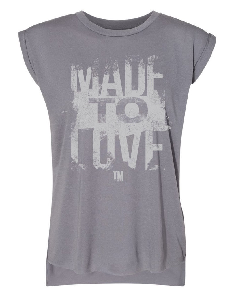 NEW - Women's Made To Love Grey Tee