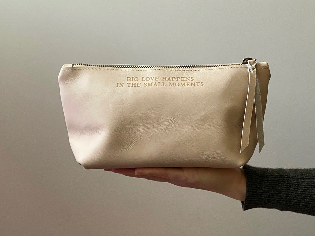 "Ivory ""Big Love"" Leather Pouch by ABLE"