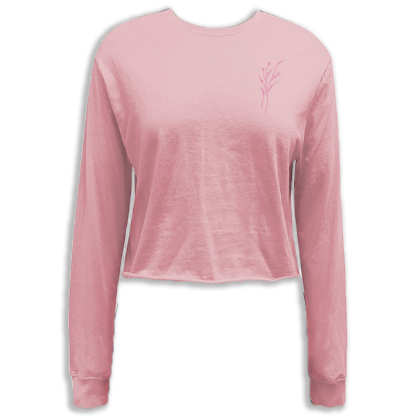 Pink Crop Long Sleeve T