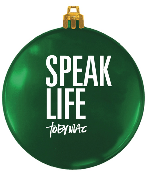 #SPEAKLIFE Green Flat Christmas Ornament