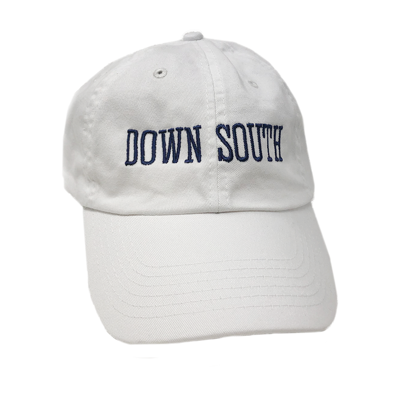 DOWN SOUTH White Dad Hat