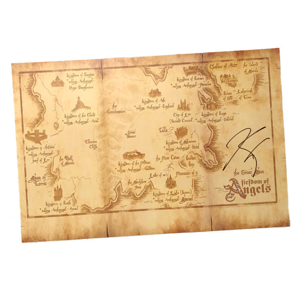Autographed Fiefdom Map Poster