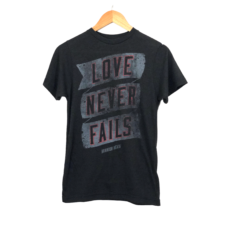 Love Never Fails Grey Tee