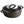 Load image into Gallery viewer, A black cast iron dutch oven with double handles and lid with handle.