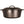 Load image into Gallery viewer, A side view of a black cast iron dutch oven with double handles and lid with handle.