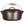 Load image into Gallery viewer, A side view of a black cast iron dutch oven with a bail handle and a lid with handle.