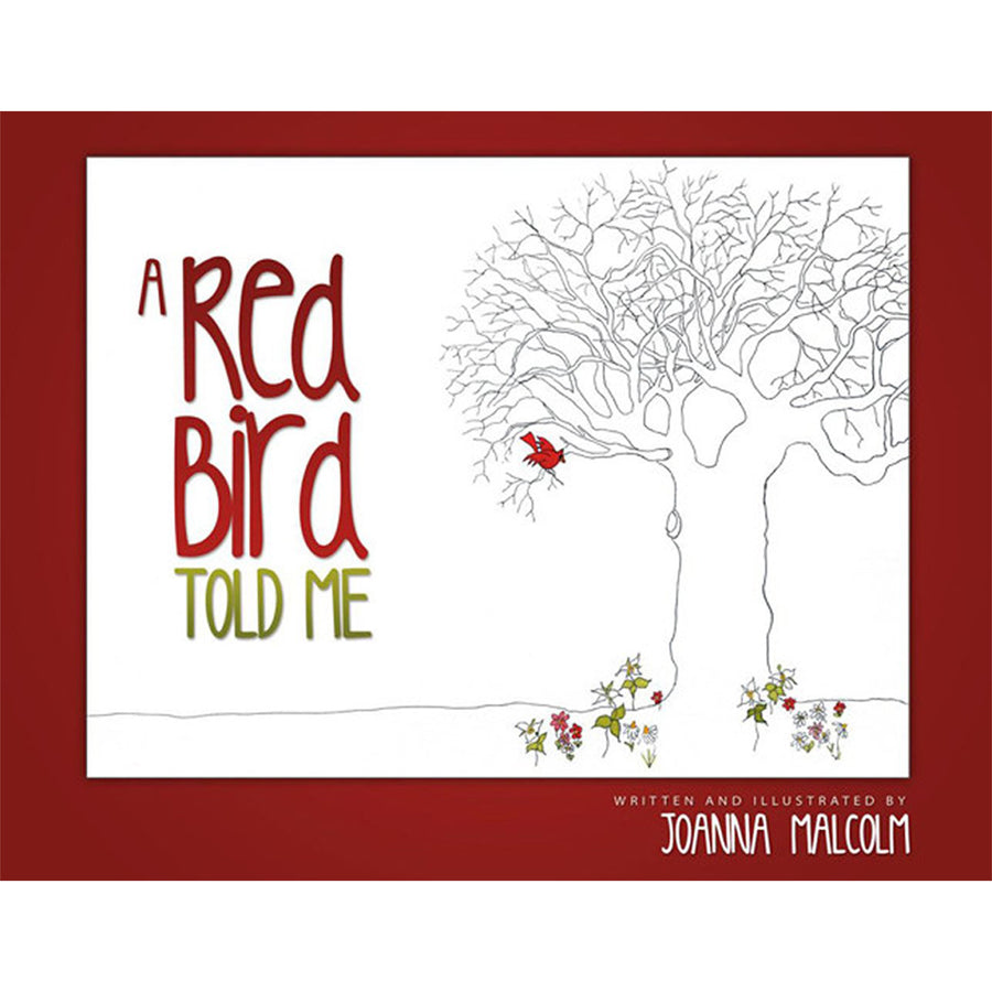 The cover of the book depicting the title and a tree with one red bird in its branches.
