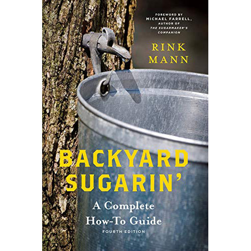 The cover of the book depicting the title and a tree with a tin bucket hanging from it.