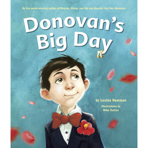 The cover of the book depicting the title and a cartoon boy in a suit.