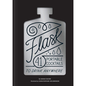 The cover of the book depicting the title and a cutout of a flask.