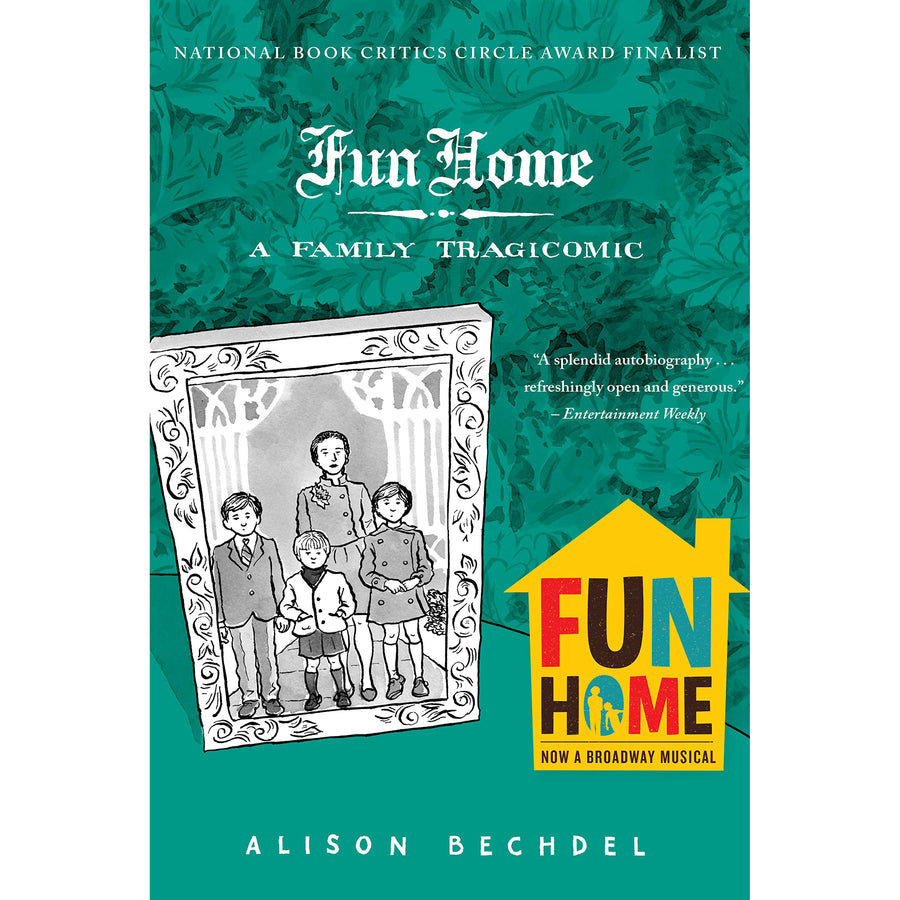 The cover of the book depicting the title and an illustrated family photo in a frame.