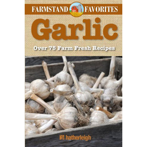 The cover of the book depicting the title and a photo of cloves of garlic.