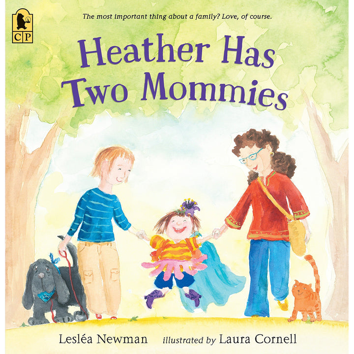 The cover of the book depicting the title and two cartoon women holding a little girls hands.