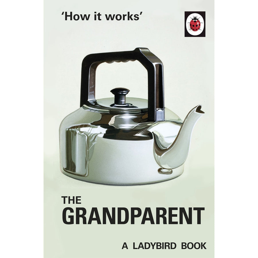 The cover of the book depicting the title and an illustrated metal kettle.