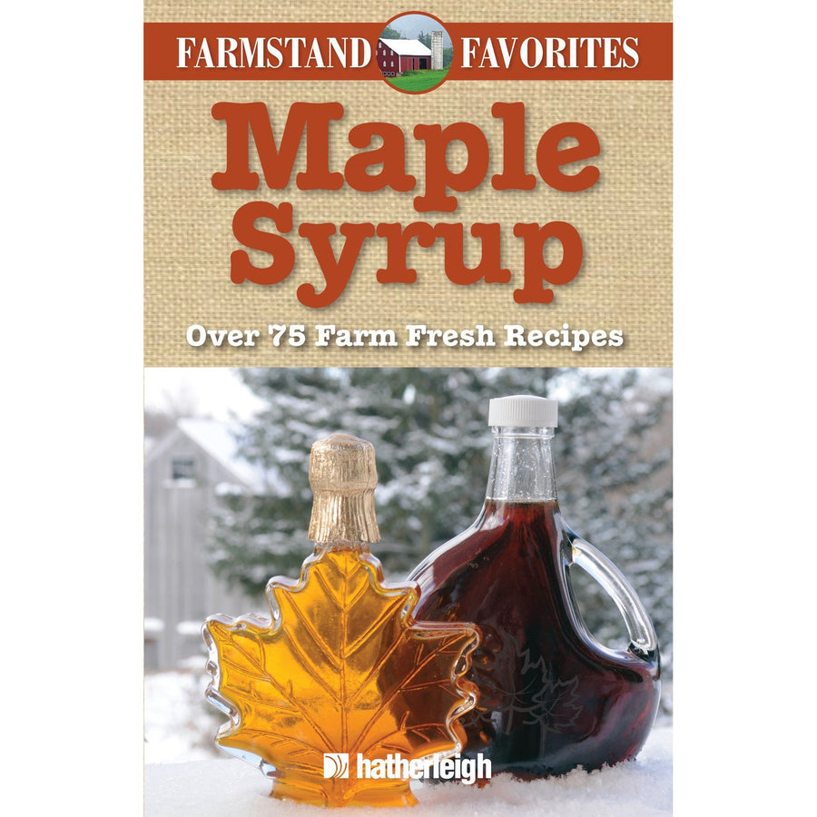 The cover of the book depicting the title and a photo of maple syrup bottles.