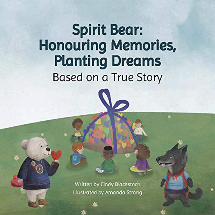 The cover of the book, that depicts a cartoon bear and cartoon wolf.