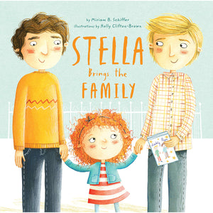 The cover of the book depicting the title and a little girl with her two dads.