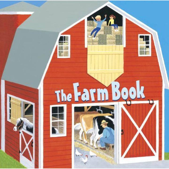 The cover of the book depicting the title and a cartoon barn.