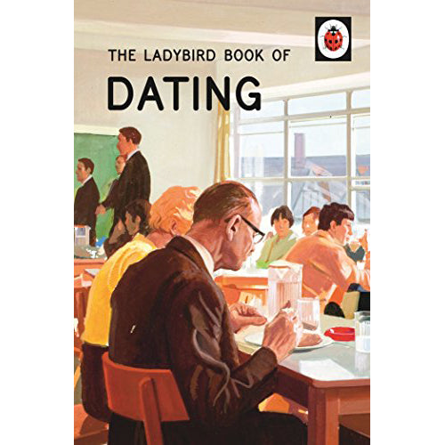 The cover of the book depicting the title and an illustrated group of people eating in a lunch room.