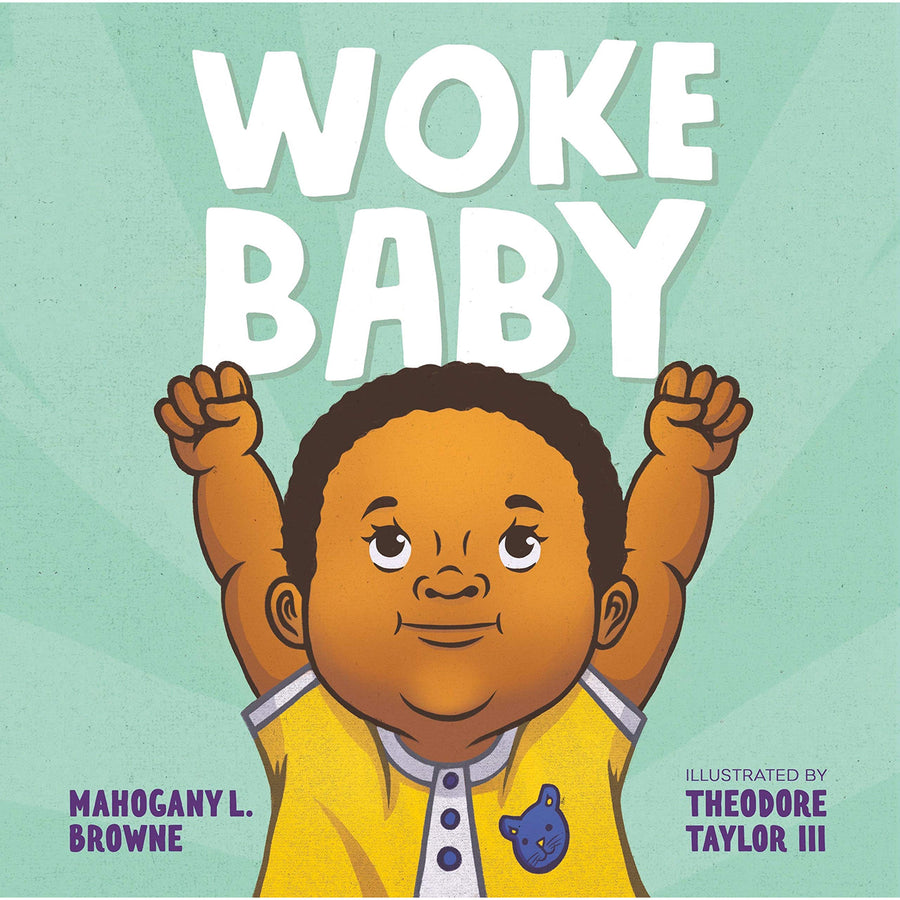 The cover of the book depicting the title and a baby with their fists in the air.