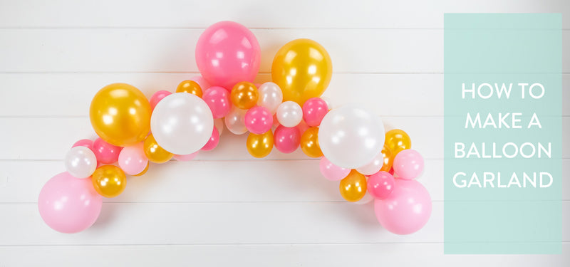 how to make a simple DIY balloon garland