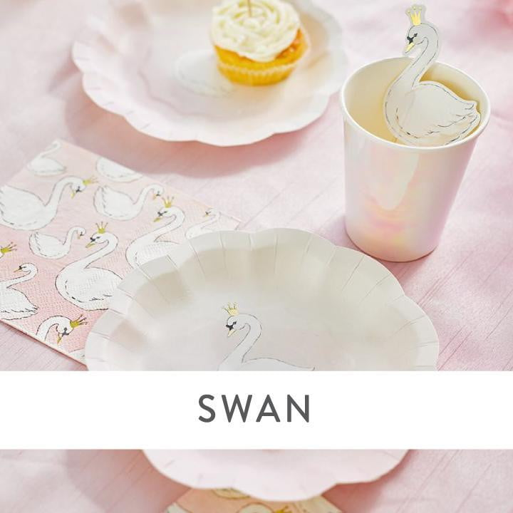 Swan Party Supplies and Decorations