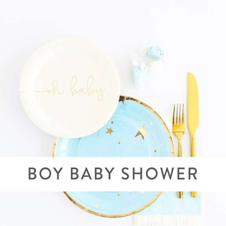 Boy Baby Shower Supplies and Decorations