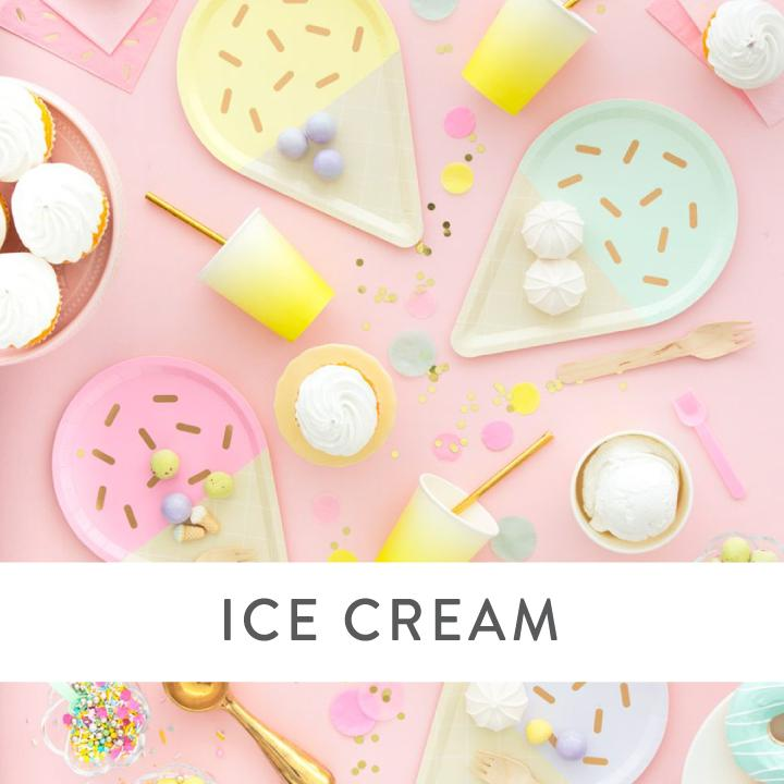 Ice Cream Party Supplies and Decorations