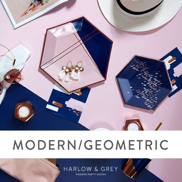 Modern/Geometric Party Supplies and Decorations