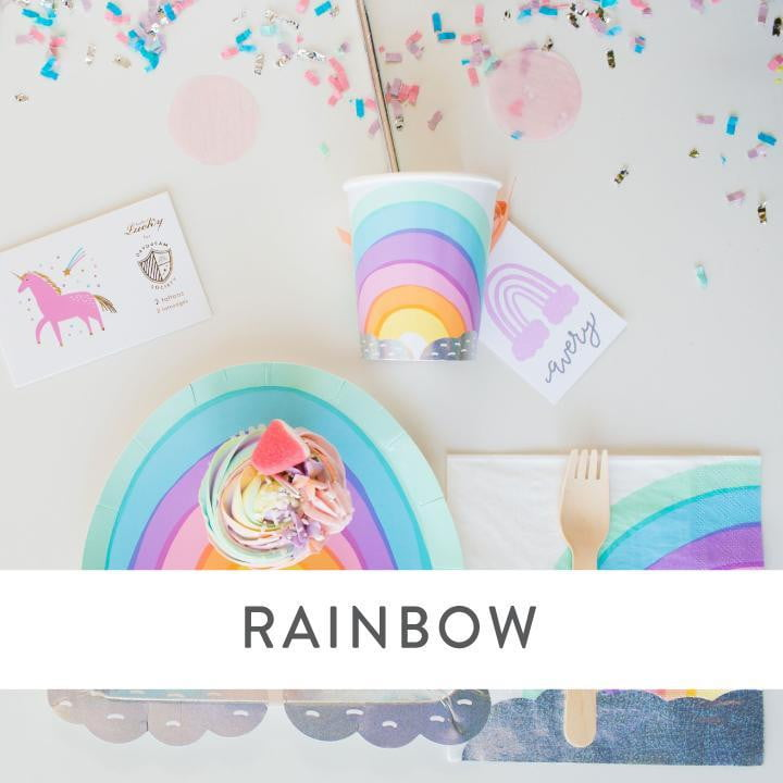 Rainbow Party Supplies and Decorations