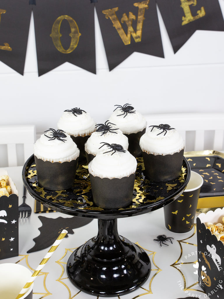 Halloween Cupcake with Spiders
