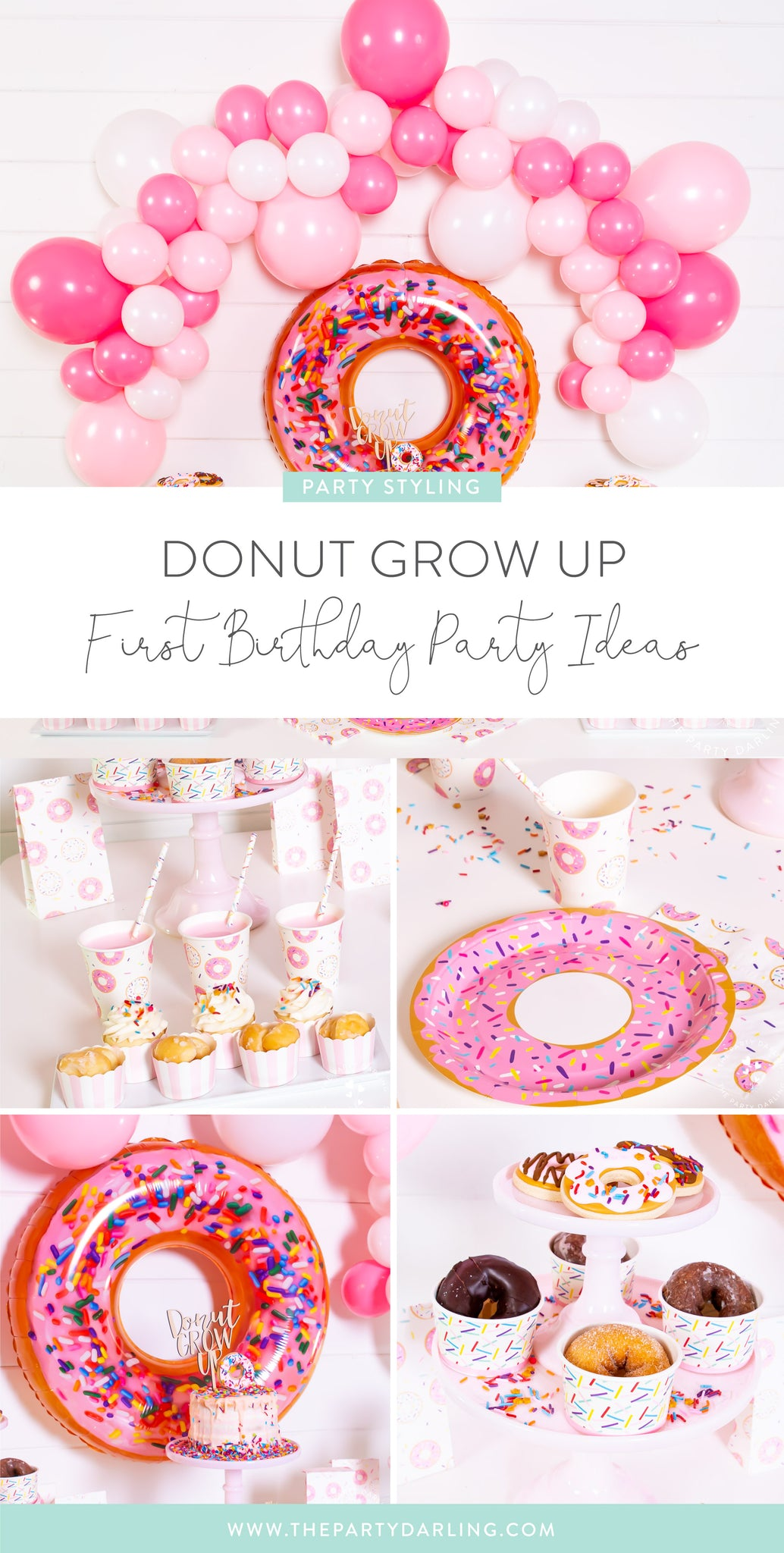 donut grow up first birthday party