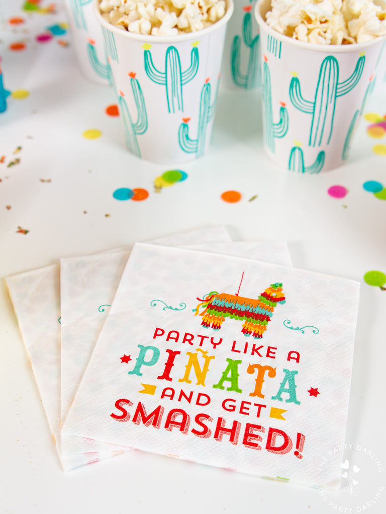 Fiesta cactus cocktail napkins