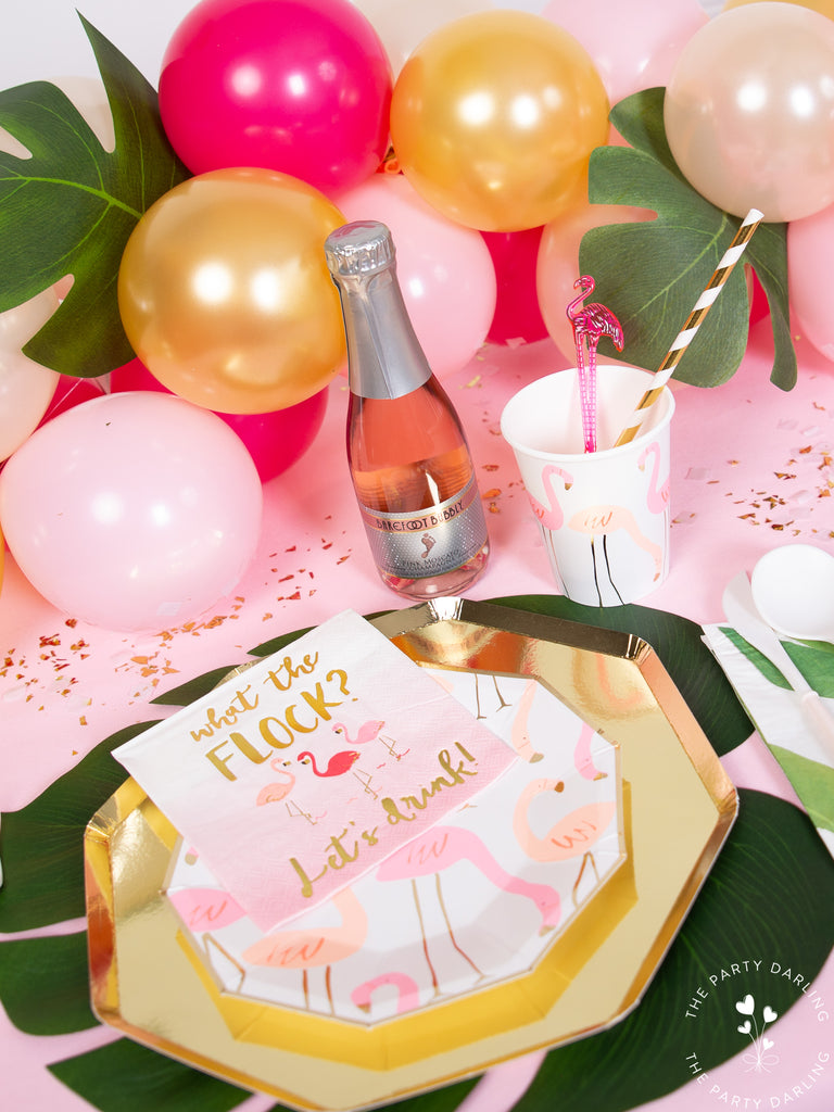 Flamingo party place setting