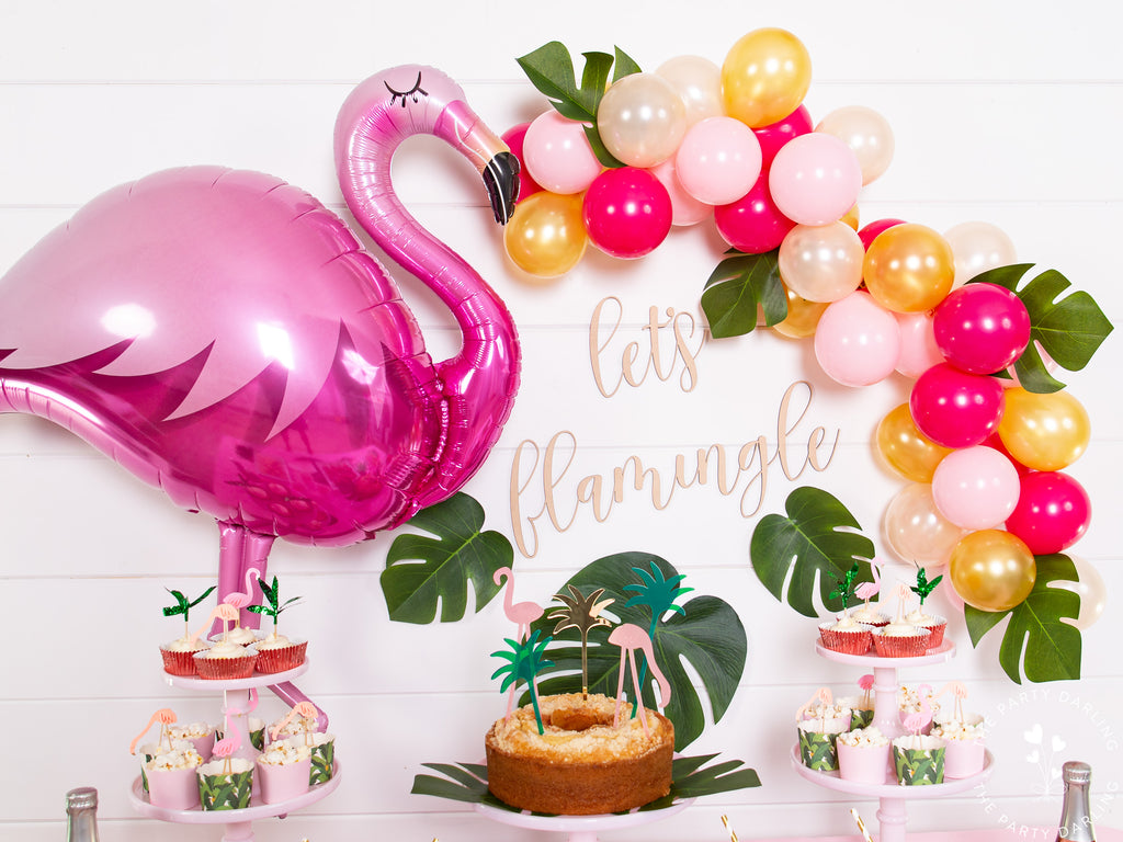 Tropical Flamingo Party Backdrop
