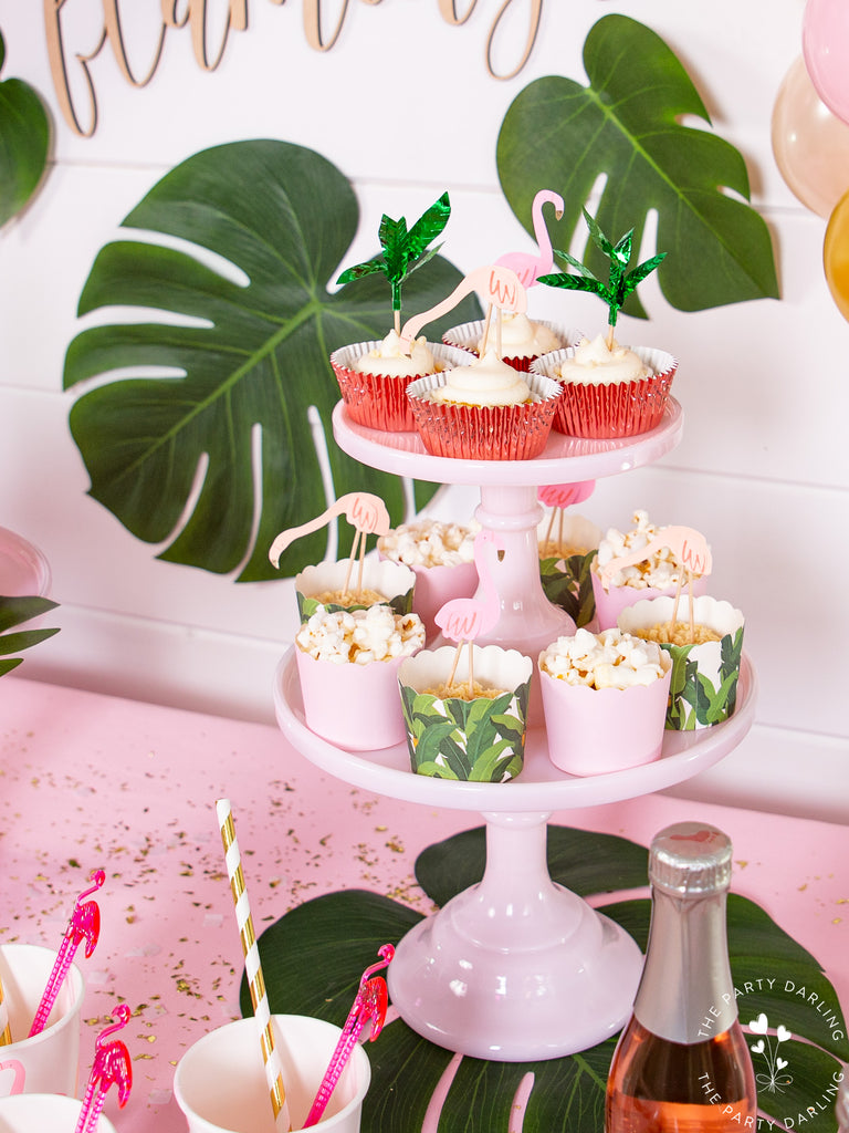 Tropical Flamingo Party Cupcakes