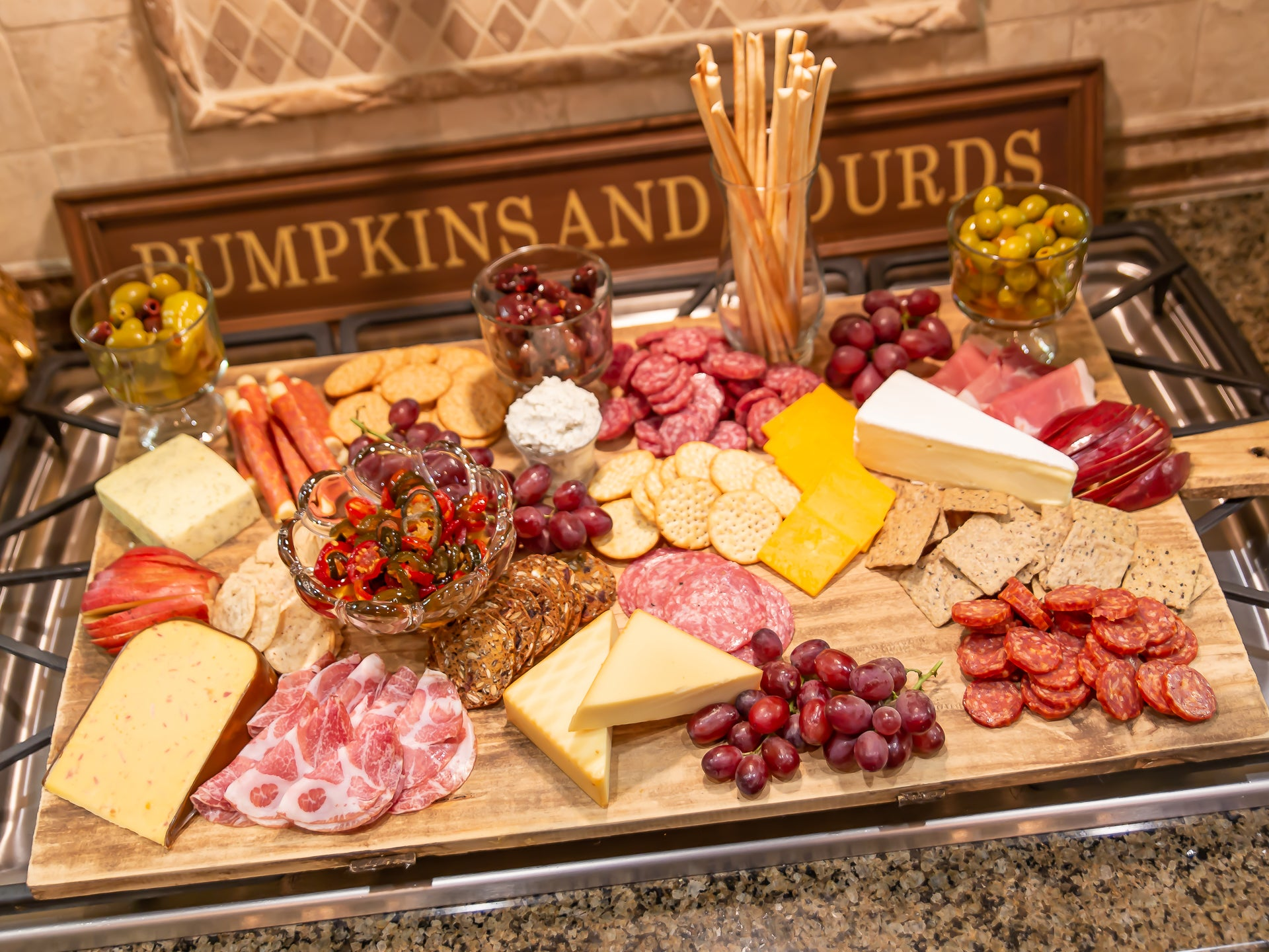 Friendsgiving charcuterie board