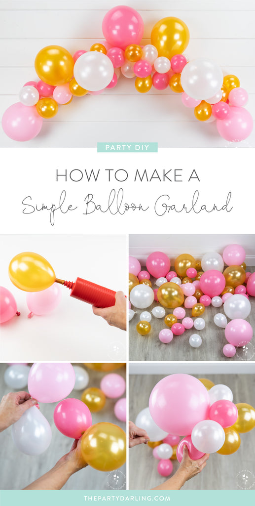 how to make a simple balloon garland