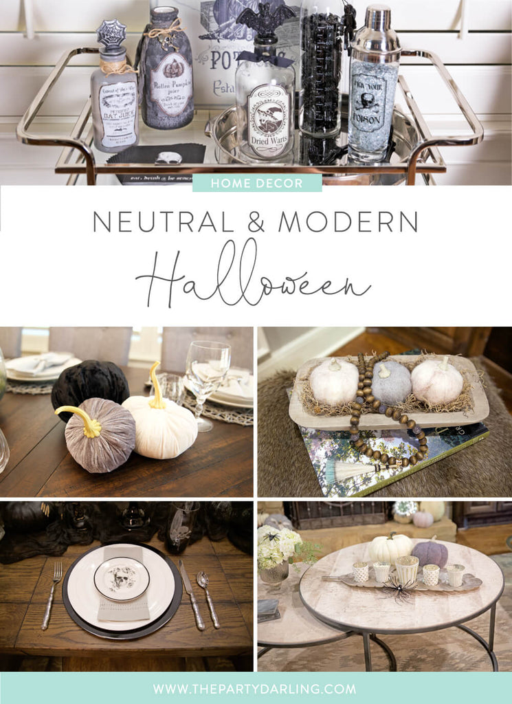 modern and neutral halloween home tour